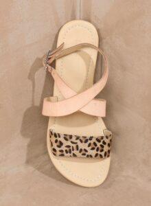 Leopard Print Leather Sandals