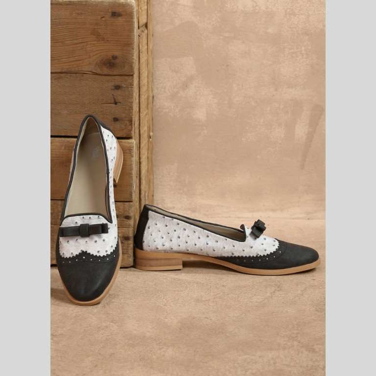 Black And Grey Loafers