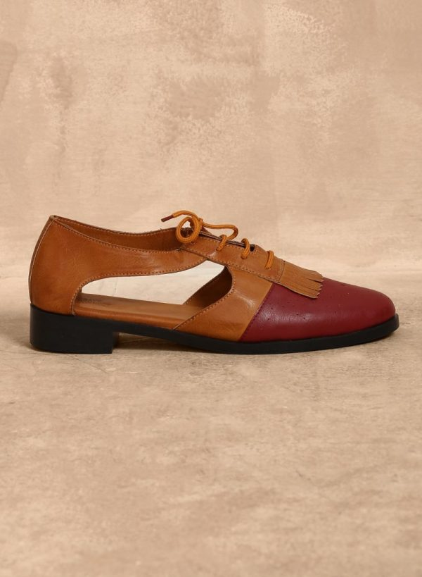 Red Brogues Sandals