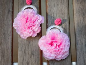 Carnation Pink Bead Earrings