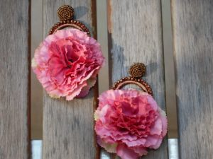 Carnation Pink Bead Earrings