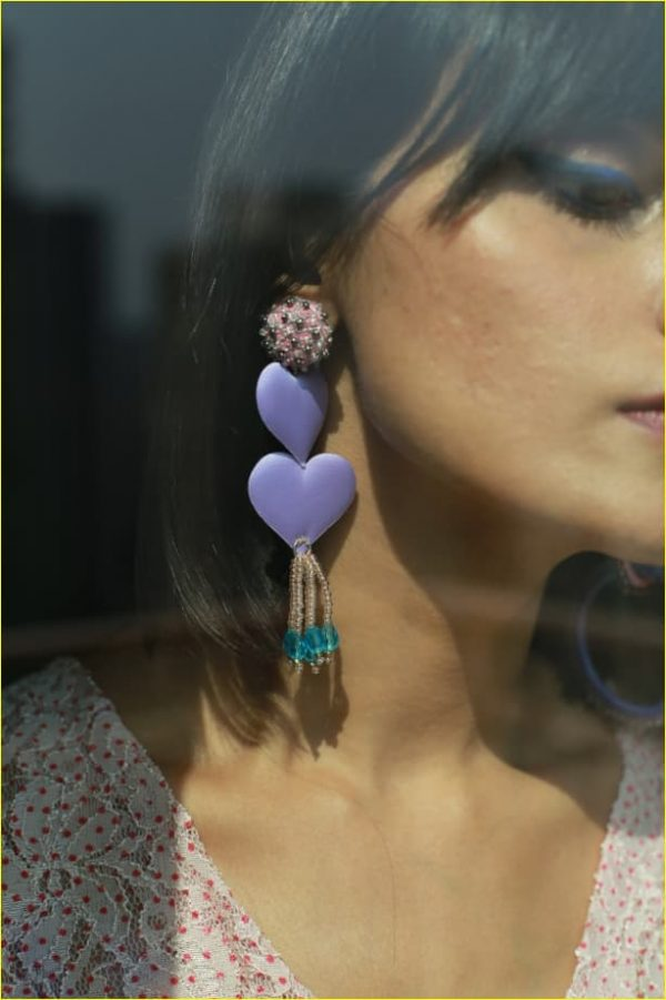 Fairy purple Bead Earrings