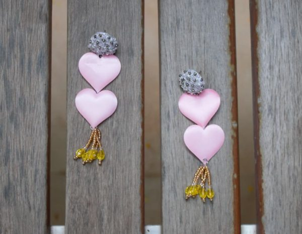 Fairy Pink Bead Earrings |
