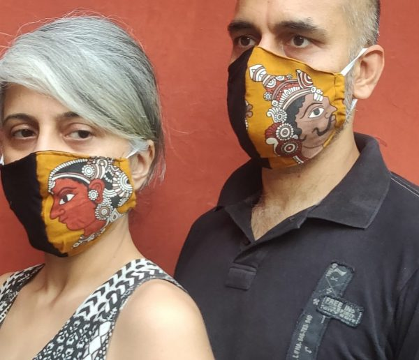 Man and Woman Face Mask ( Set of 2) | Man and Woman Face Mask |