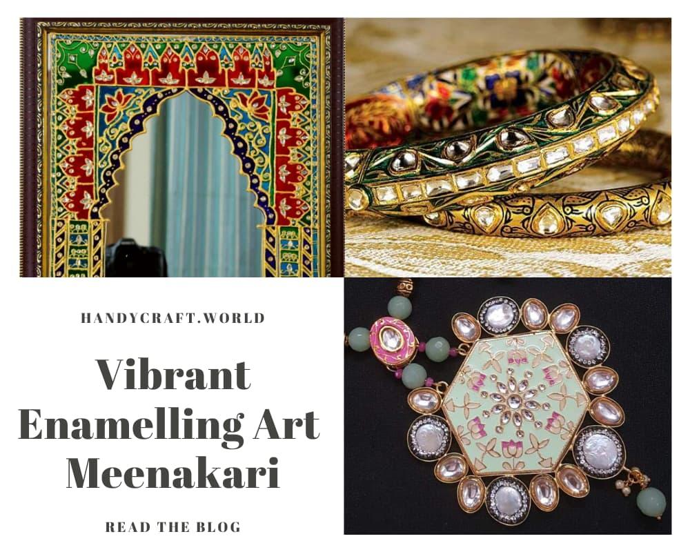 Enamelling Meenakari Jewellery   Stone Carving