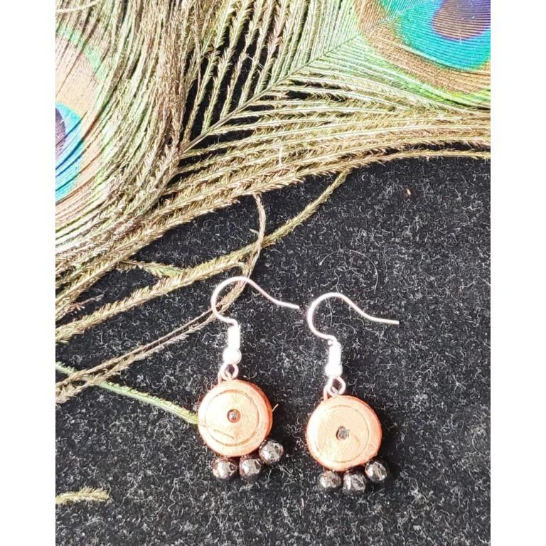 Orange Small Sized Terracotta Earrings