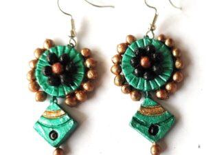 Turquoise Diamond Shaped Earrings