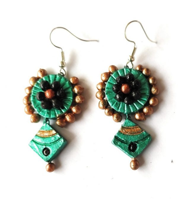 Turquoise Diamond Shaped Earrings
