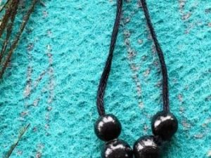 Black Flower Shaped Terracotta Choker