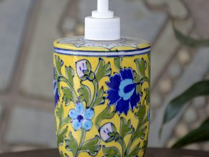 Handmade Yellow Floral Liquid Dispenser