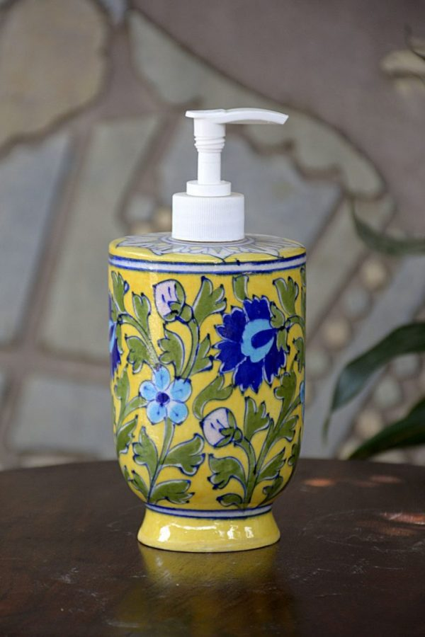 Handmade Yellow Floral Liquid Dispenser