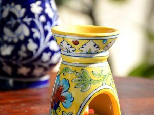 Pottery Yellow Floral Small Oil Aroma