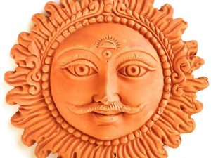 Handmade Terracotta Wall Hanging Lord Sun
