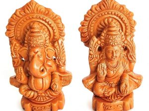 Lakshmi Ganesha Handmade Terracotta Idols