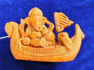 Lord Ganesha Terracotta Idol Showpiece