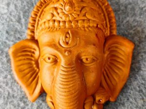 Lord Ganesha Face Wall Hanging Terracotta Showpiece