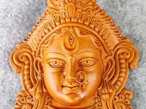 Goddess Durga Maa Face Terracotta Idol