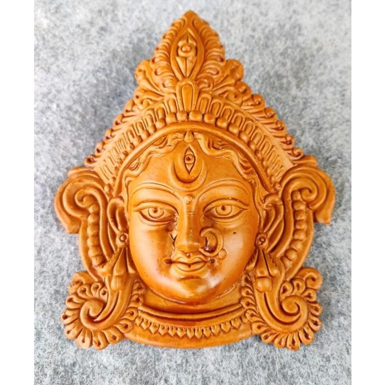 Goddess Durga Maa Face Terracotta Idol