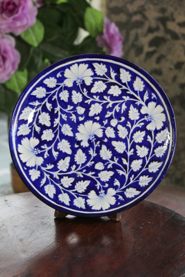 Blue Pottery Blue & White wall Plate