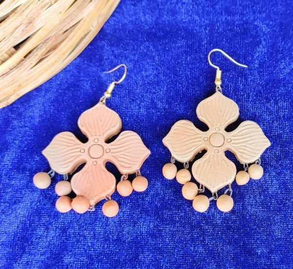 Flower Shower Terracotta Earrings |