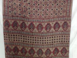Ajrakh Handblock Cotton Saree
