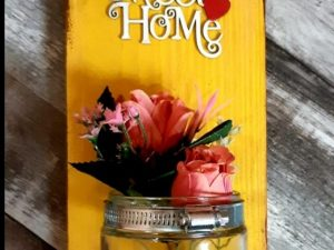 Home Sweet Home Mason Jar Sconce