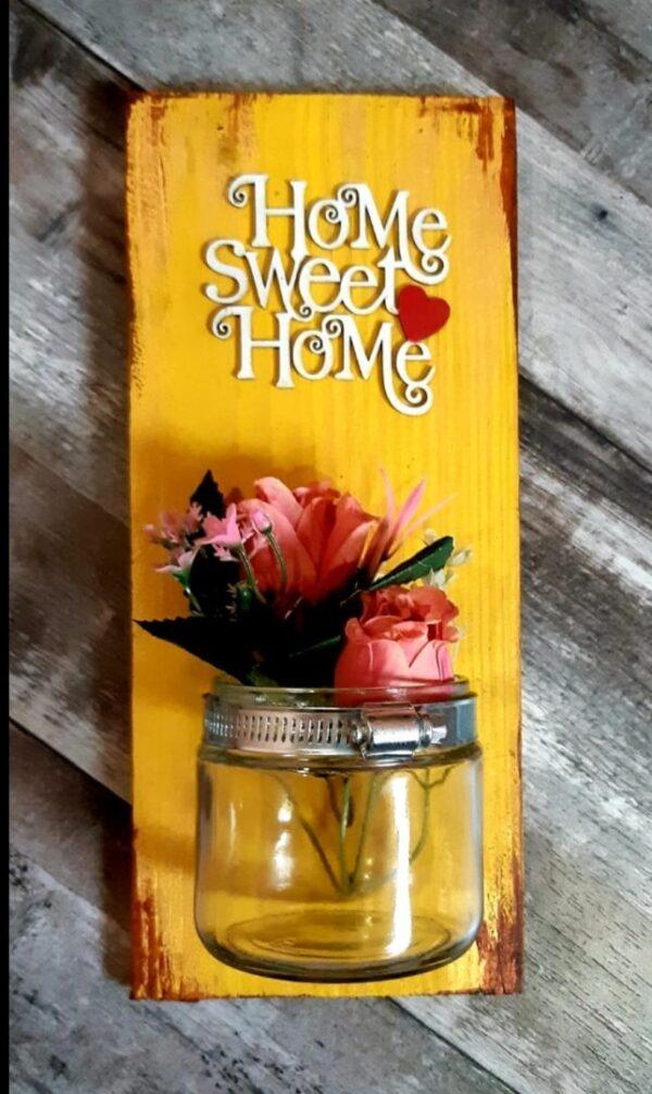 Home Sweet Home Mason Jar Sconce