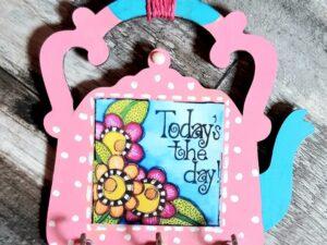 Pink Kettle Shaped Key Holders
