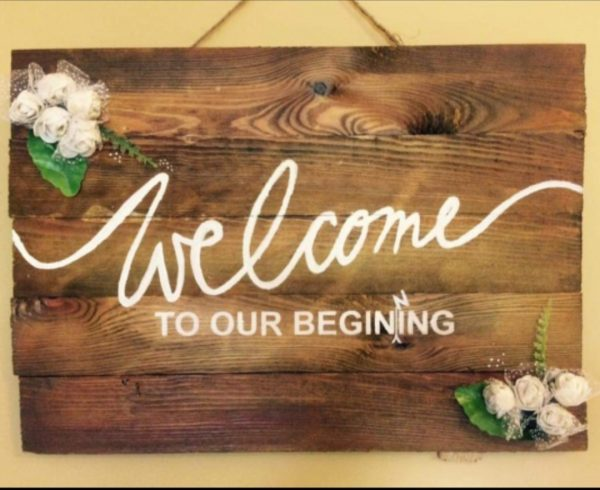 New Welcome Wooden Plaque