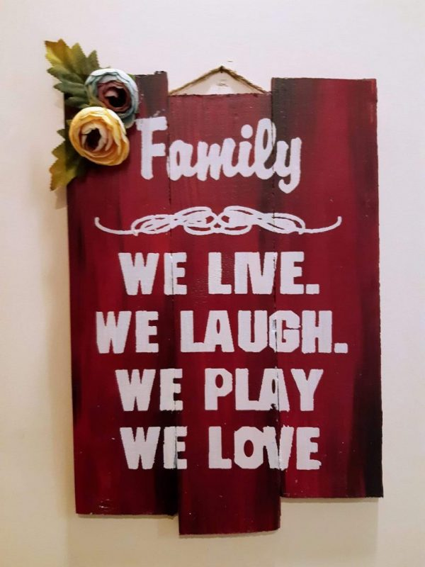 Family Positive Vibes Plaque