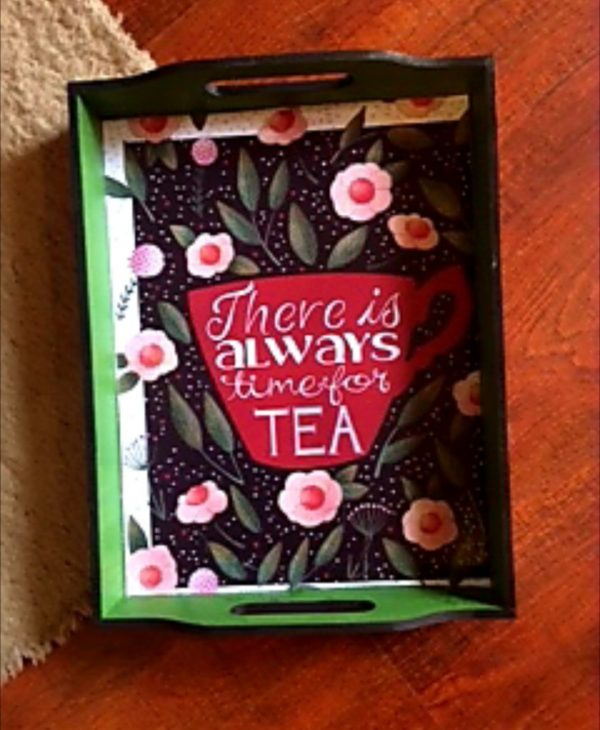 Tea Time Green Tray