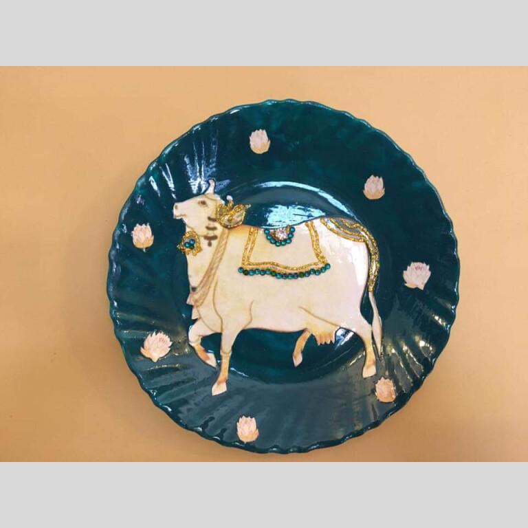 Royal Theme Lacquer Wall Plates - Set of 7 | Royal Theme Lacquer Wall Plates |