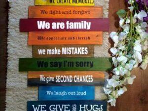 13 Family Plaque Set Peppy
