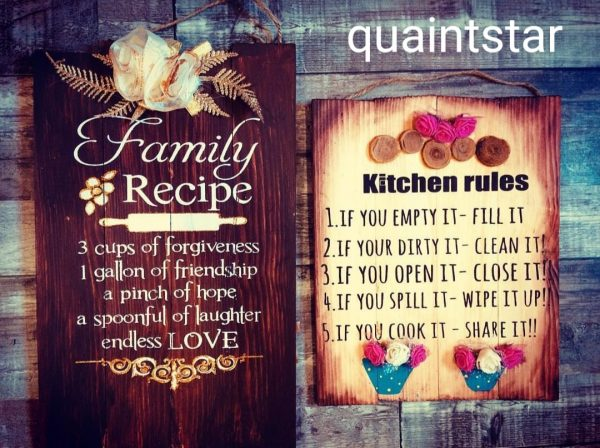 Kitchen Plaque Set