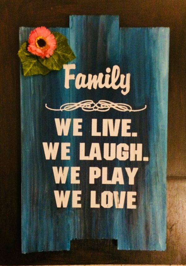 Family Quotes Printed Plaque