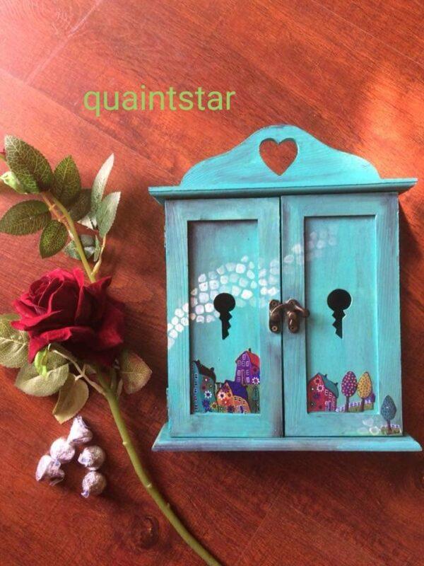 Lovely Teal Closet Key Holder