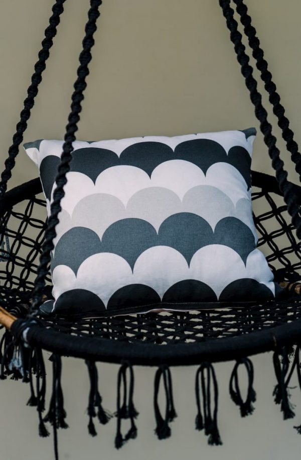 Monochrome Bubble Cushion Cover