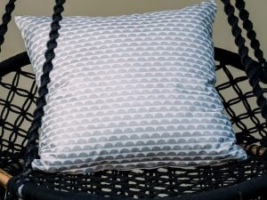 Silver Bubble Cushion Cover