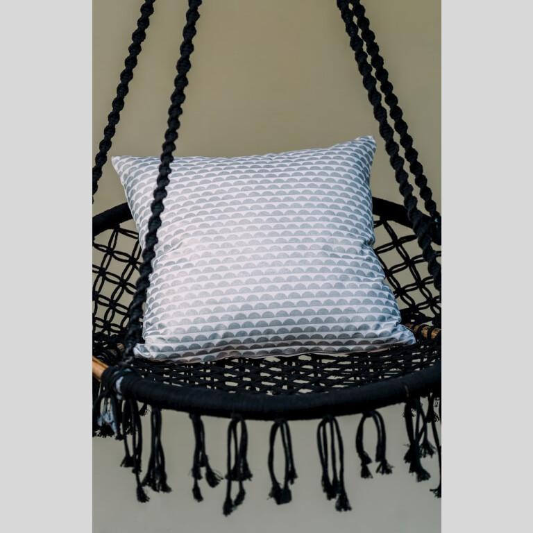 Silver Bubble Cushion Cover