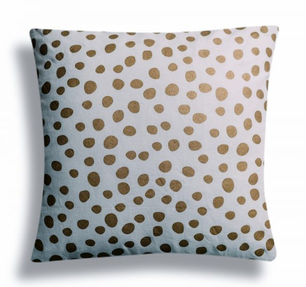 Golden Polka Cushion Cover |