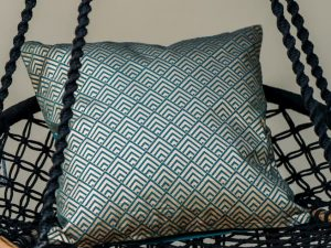 Green Gold Geo Cushion Cover