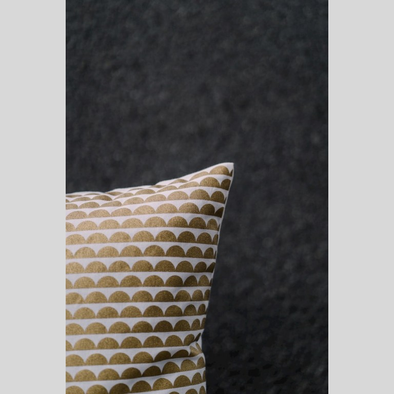 Gold Bubble Cushion Cover