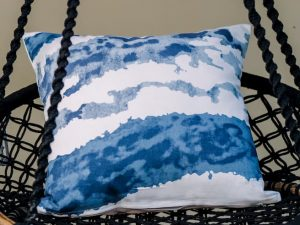 Denim Wave Cushion Cover
