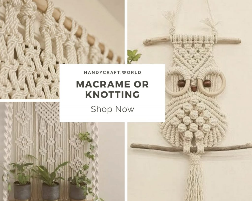 Macrame Art | Wall hangings and plant hangers