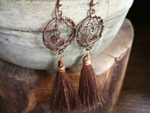 Dream Catcher With Brown Tassels