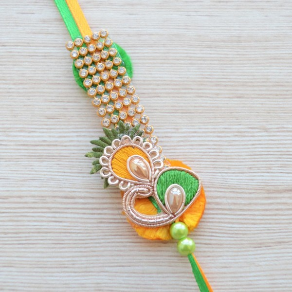 Ethnic Premium Embroidered Rakhi for Brother |