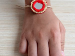 Simple Red and Gold Rakhi
