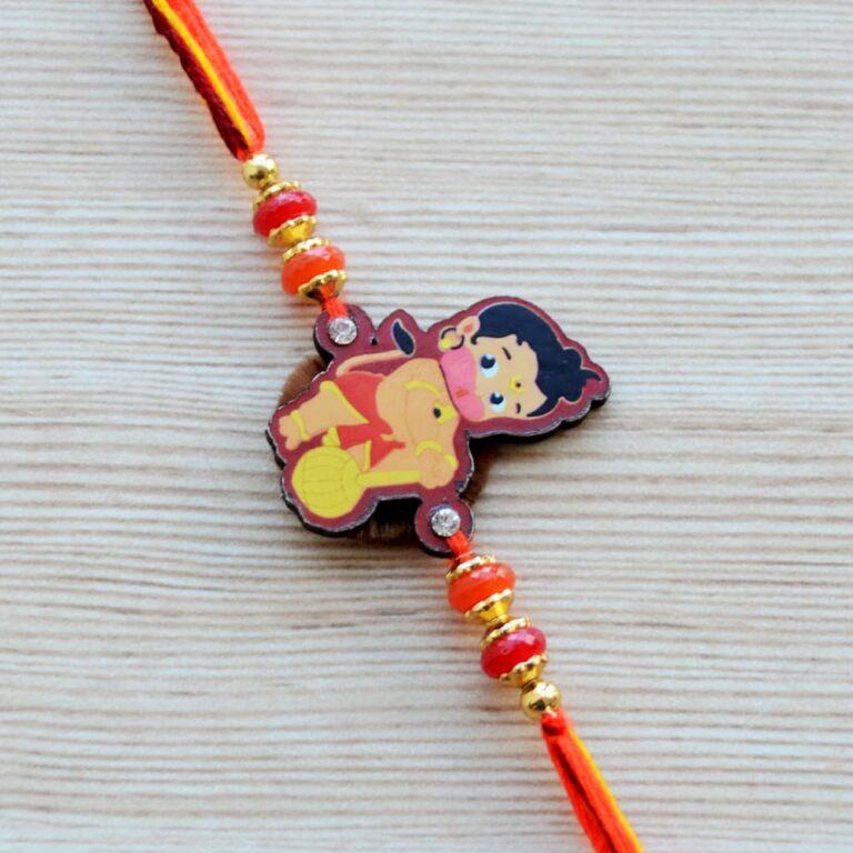 Hanuman Motif Rakhi for Boys Kids  