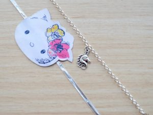 Silver Unicorn Bracelet with Kitty Rakhi