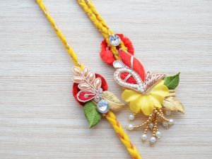 Ethnic Rakhi Lumba Set for Bhaiya Bhabhi